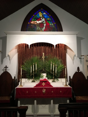 Altar with Palms 2018